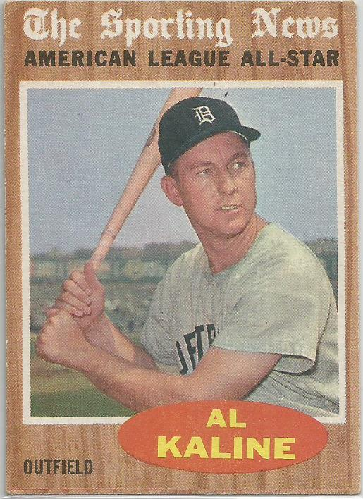 1962 Topps 470 Al Kaline Detroit Tigers The Sporting News All Star