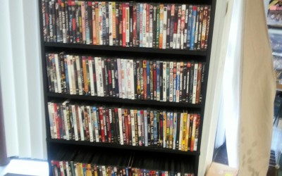 Stop in and check out our  DVD rack, 300 New and old titles