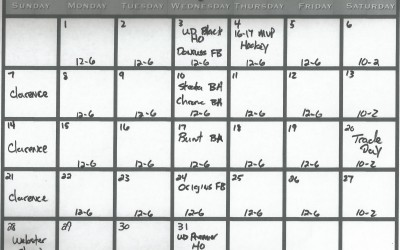 Check out my August quick Calendar,store hours,new products due and events