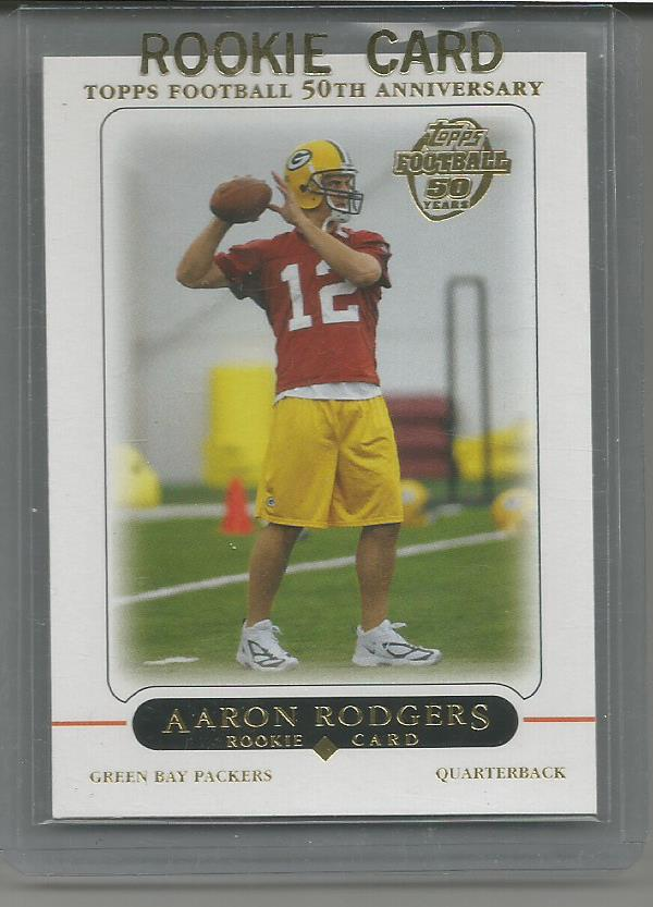 2005 Topps Aaron Rodgers Rookie Rc Green Bay Packers Card