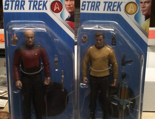 Available At Center Ice Sports Cards : Mcfarlane Captain James T. Kirk and Jean-Luc Picard